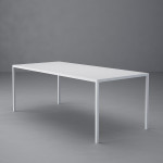 Metal dining table Leo