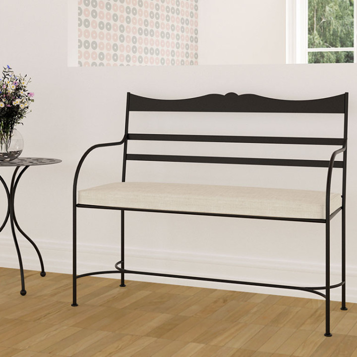 Wrought iron bench Olas