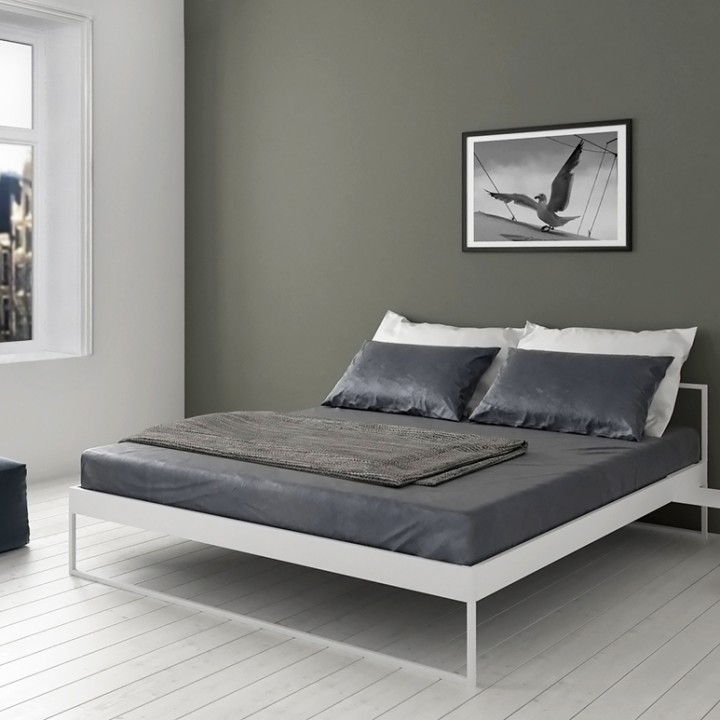 Minimalistisch bed Project White