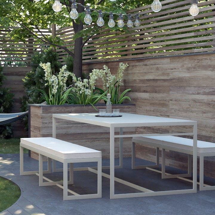 Minimalist-table-Poul-benches